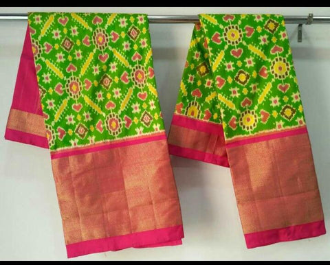 Multi Color Ikat Silk Pochampally Saree - LS-WA0054
