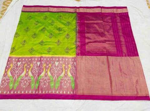 Multi Color Ikat Silk Pochampally Saree - LS-WA0056