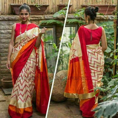 Buy Multi Color Ikat Silk PochamPallySaree