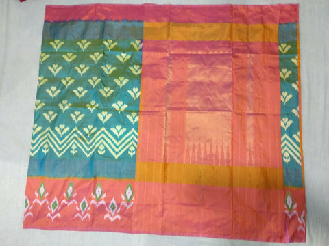 Multi Color Ikat Silk Pochampally Saree - LS-WA0073