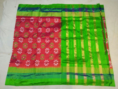 Multi Color Ikat Silk Pochampally Saree - LS-WA0089