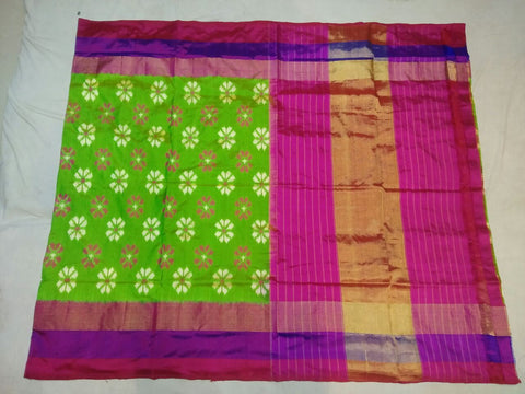 Multi Color Ikat Silk PochamPally Saree - LS-WA0090