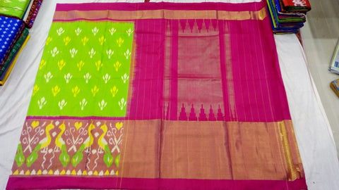 Multi Color Ikat Silk PochamPally Saree - LS-WA0120