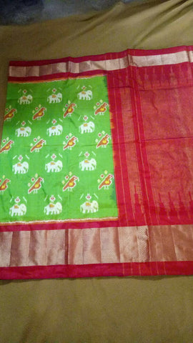 Multi Color Ikat Silk PochamPally Saree - LS-WA0121