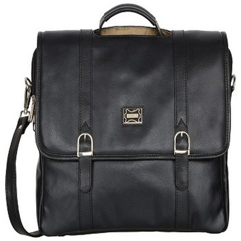 Black Color Leather Men Laptop Bag - LT051