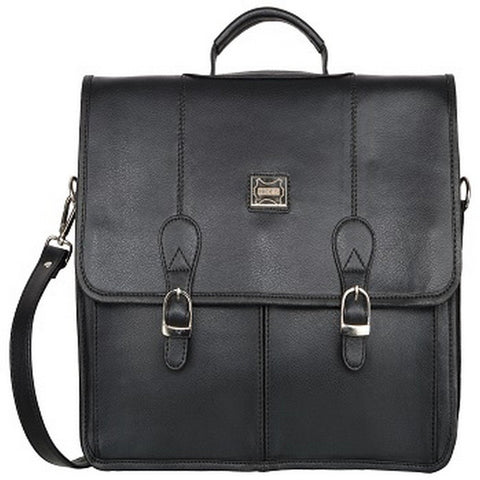 Black Color Leather Men Laptop Bag - LT052