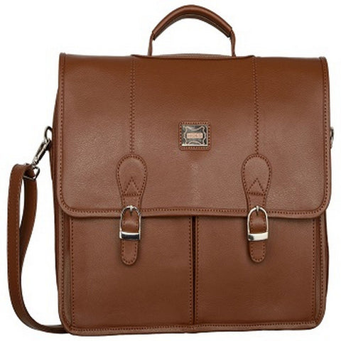Tan Color Leather Men Laptop Bag - LT053