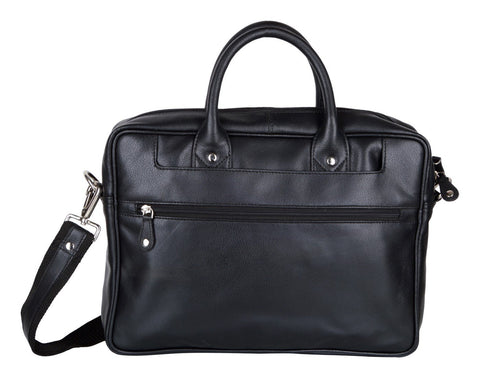 Black Color Leather Men Laptop Bag - LT11BLK
