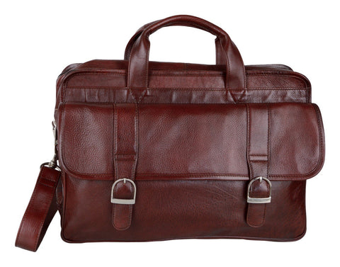 Red Color Leather Men Laptop Bag - LTBS01