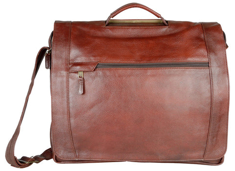 Red Color Leather Men Laptop Bag - LTBS03