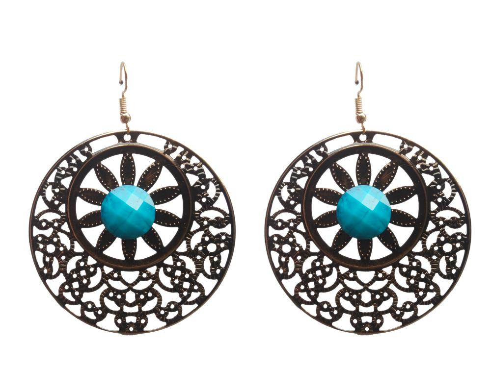 Buy SkyBlue Color Mettel Ear Ring