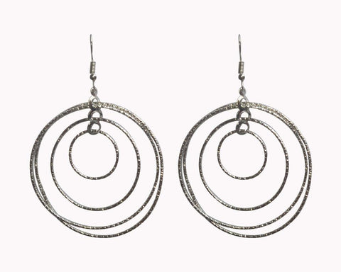 Silver Color Mattel Beautiful Earring - LV017
