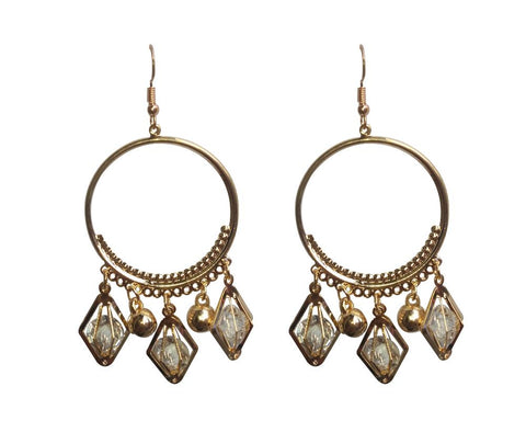 Gold Color Mattel Beautiful Earring - LV020