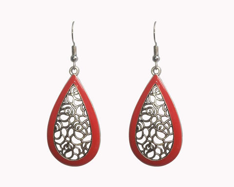 Silver Color Mattel Beautiful Earring - LV022