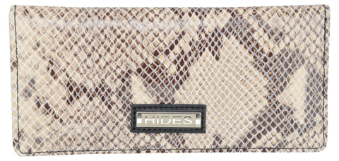 Silver Color Leather Womens Wallet - LW-39