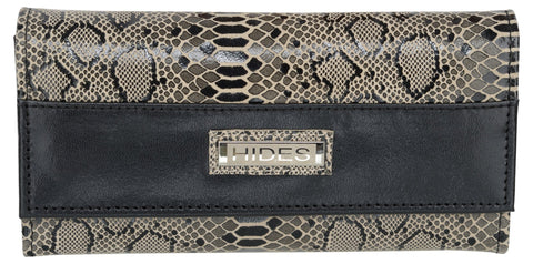 Silver Color Leather Womens Wallet - LWC-37