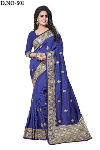 Navy Color Zoya Artsilk Saree - Lady-501