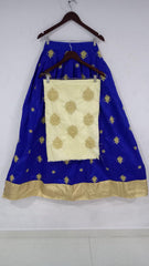 Blue Color Banglori Silk Stitched Lehenga - Laila-Blue-Lehenga