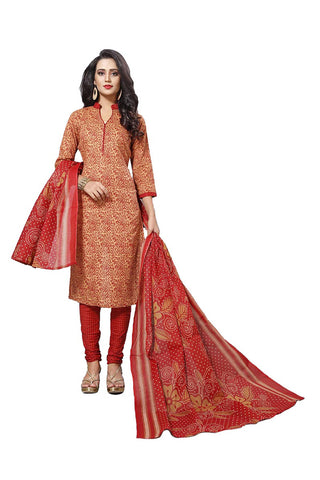 Red Color Cotton  Stitched Salwar  - Lalpari-4003