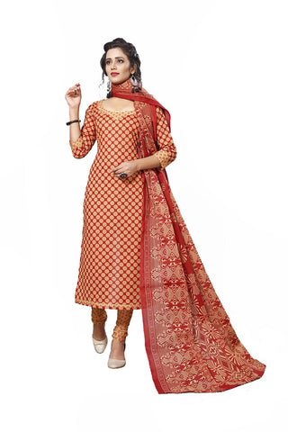 Beige Color Cotton  Stitched Salwar  - Lalpari-4010