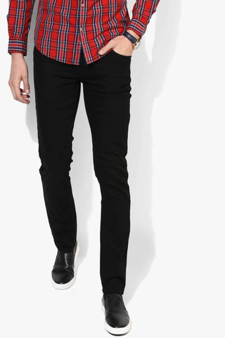 Lawson Skinny Men's Black Cotton Denim Jeans - Lawb09