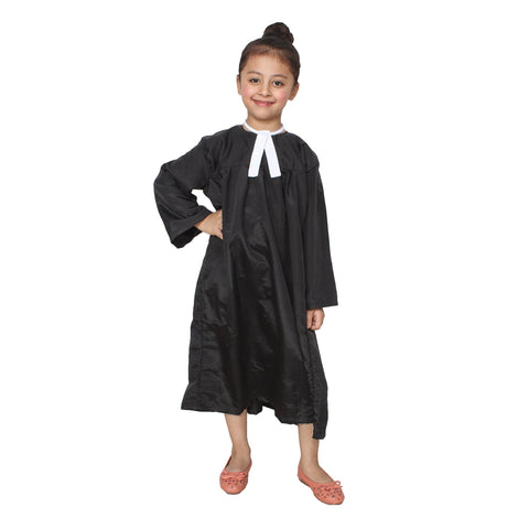 Black Color Cotton Blend Fancy Costume Dress  - Lawyer-1