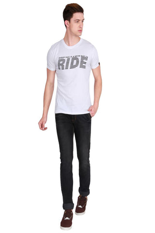White Color Cotton Men T-Shirt - LeBison-16