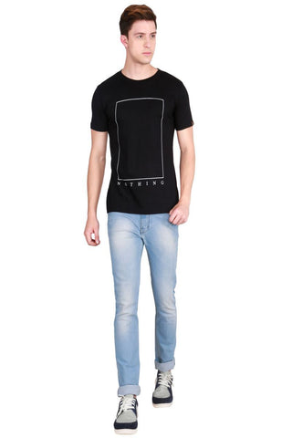 Black Color Cotton Men T-Shirt - LeBison-33