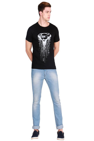 Black Color Cotton Men T-Shirt - LeBison-34