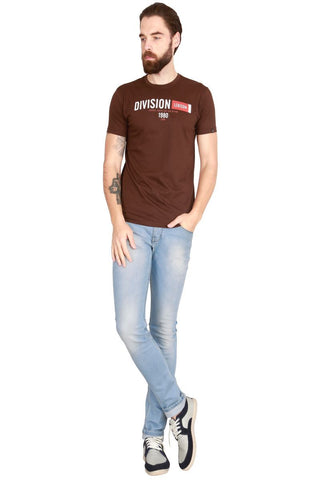 Brown Color Cotton Men T-Shirt - LeBison-40