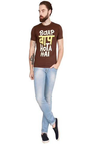 Brown Color Cotton Men T-Shirt - LeBison-44