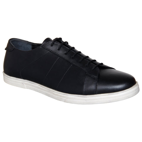 LOZANO Black Color Leather Mens Casual Derbys - Lozano-11
