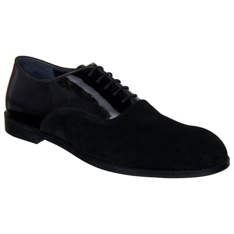 LOZANO Black Color Patent Leather Mens Formal  Oxfords - Lozano-15