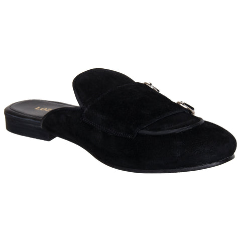 LOZANO Black Color Suede Mens Casual Slip-On Shoes - Lozano-17