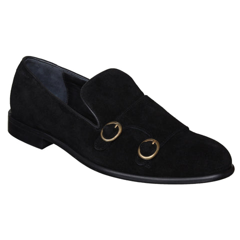 LOZANO Black Color Suede Mens Casual Slip-On Shoes - Lozano-18