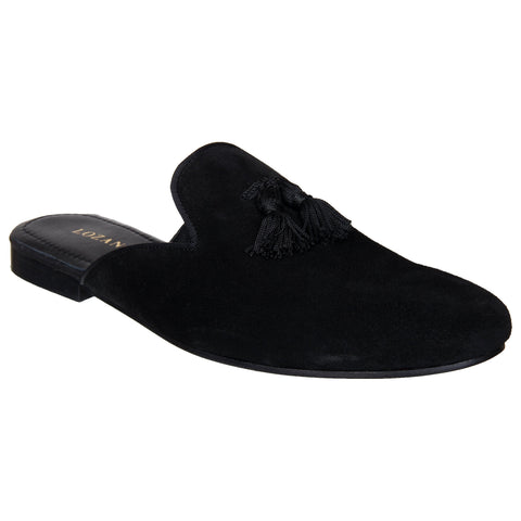 LOZANO Black Color Synthetic Mens Casual Slip-On Shoes - Lozano-22