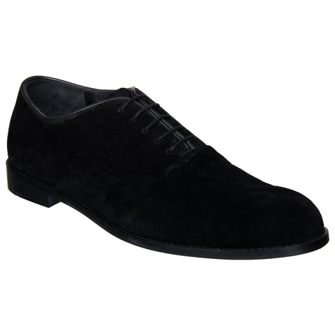 LOZANO Black Color Suede Mens Formal Oxfords - Lozano-23