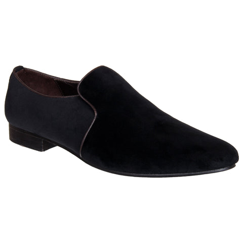 LOZANO Black Color Suede Mens Casual Slip-On Shoes - Lozano-24