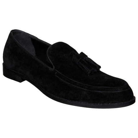 LOZANO Black Color Suede Mens Casual Slip-On Shoes - Lozano-25