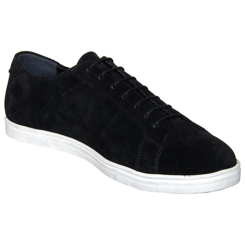LOZANO Black Color Suede Mens Casual Derbys - Lozano-26