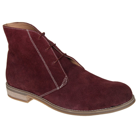 LOZANO Maroon Color Suede Mens Formal Boots - Lozano-46