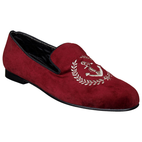 LOZANO Maroon Color Synthetic Mens Casual  Slip-On Shoes - Lozano-49