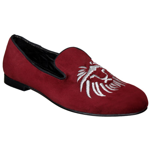LOZANO Maroon Color Synthetic Mens Formal Slip-On Shoes - Lozano-53