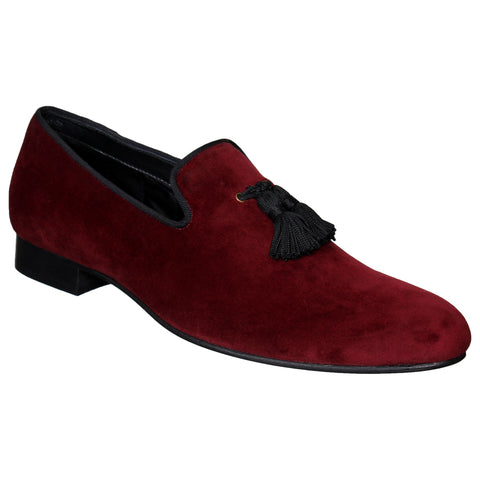 LOZANO Maroon Color Synthetic Mens Formal Slip-On Shoes - Lozano-55
