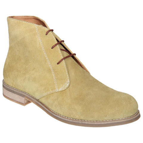 LOZANO Olive Color Suede Mens Formal Boots - Lozano-56