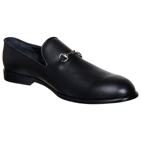 LOZANO Black Color Leather Mens Casual Slip-On Shoes - Lozano-9