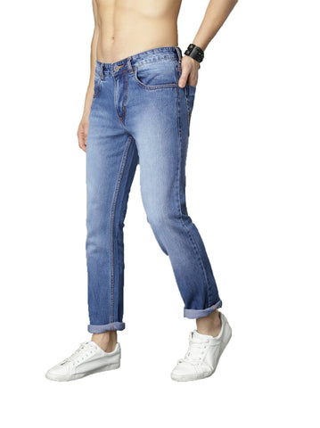 Blue Color Denim Fadded Mens Jeans - M-JNS-6991-BLU