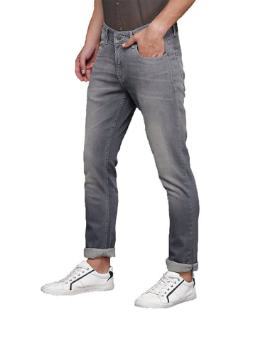 Grey Color Denim Fadded Mens Jeans - M-JNS-6991-GRY
