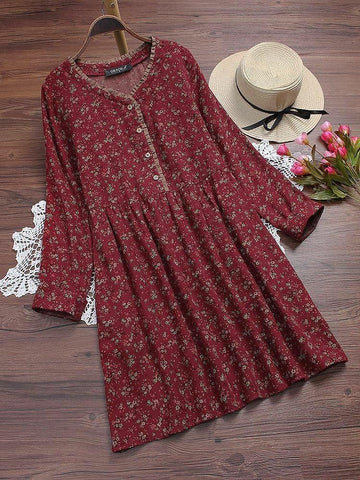 Maroon Color Poly Riyon Women's Kurti - MAROON-FLOWER