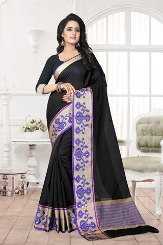 Black Color Banarasi Silk Saree - MAST-MAST1071